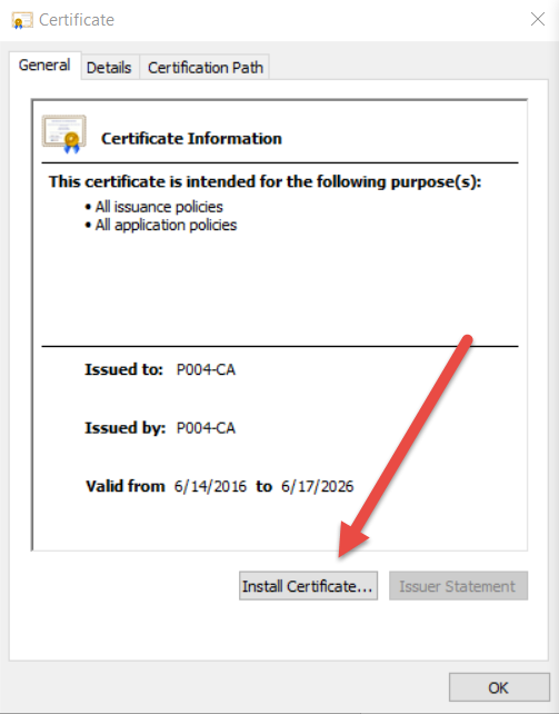 Security Certificates
